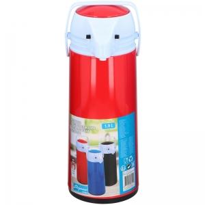 Thermoskan/isoleerkan met dispenser 1.9 liter rood