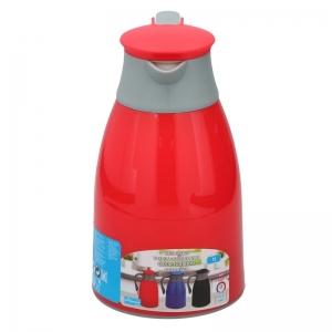 Thermoskan/isoleerkan 1 liter rood/grijs