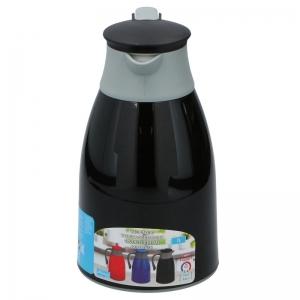 Thermoskan/isoleerkan 1 liter zwart/grijs