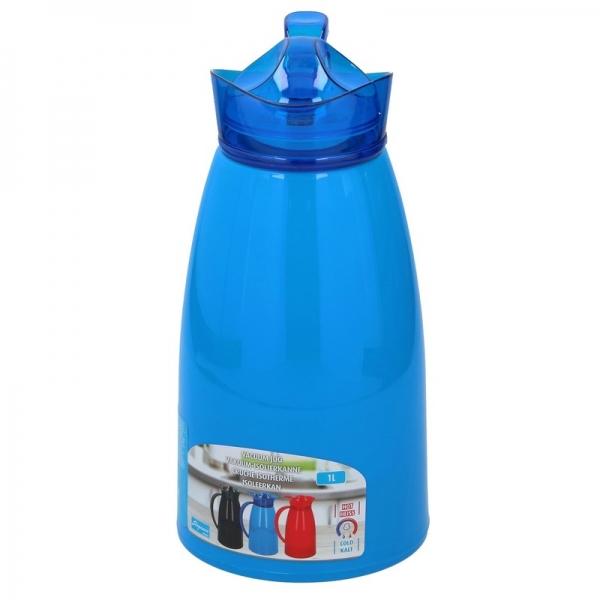 Thermoskan/isoleerkan 1 liter blauw