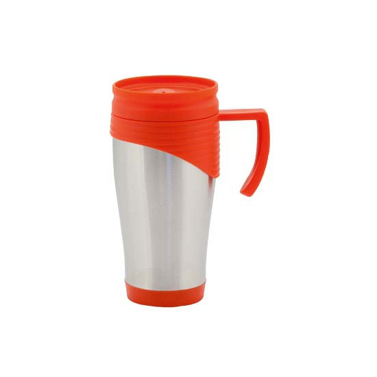 RVS Thermosbeker/warm houd beker rood 400 ml