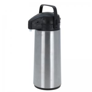 RVS thermoskan/isoleerkan met pomp 1.8 liter