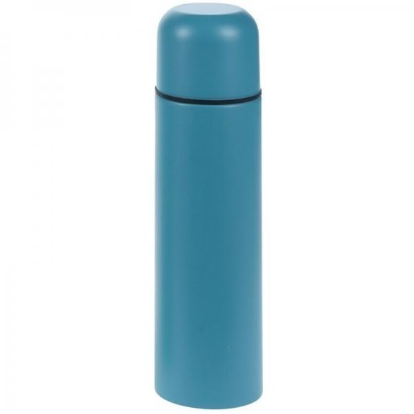 RVS thermoskan/isoleerkan 500 ml blauw