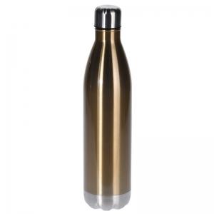 RVS thermoskan/isoleerkan 1 liter goud