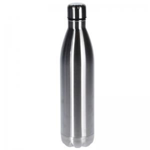 RVS thermoskan/isoleerkan 1 liter zilver