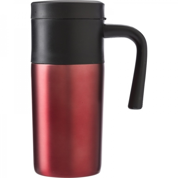 Roestvrijstalen thermos/isoleer reisbeker 330 ml rood