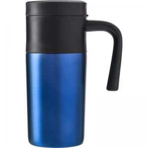 Roestvrijstalen thermos/isoleer reisbeker 330 ml kobalt blauw