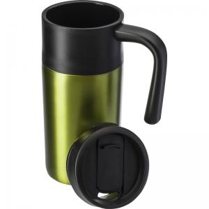 Roestvrijstalen thermos/isoleer reisbeker 330 ml licht groen