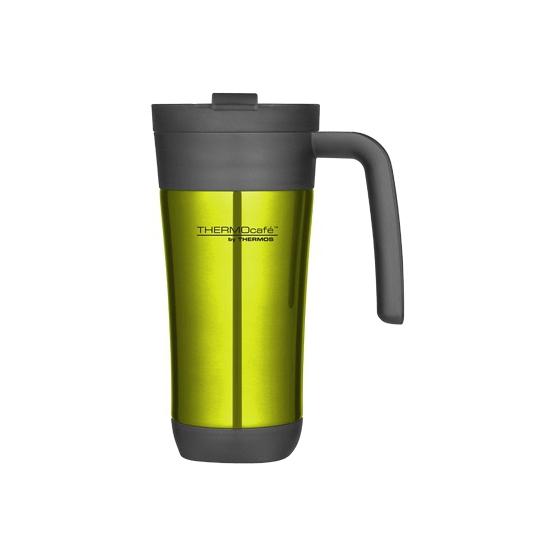 Groene thermosbeker/warm houd beker 425 ml
