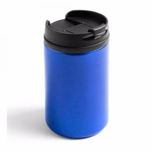 Warmhoudbeker/warm houd beker metallic blauw 320 ml