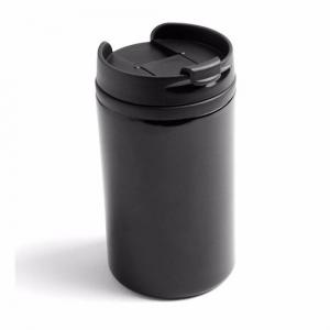 Warmhoudbeker/warm houd beker metallic zwart 320 ml